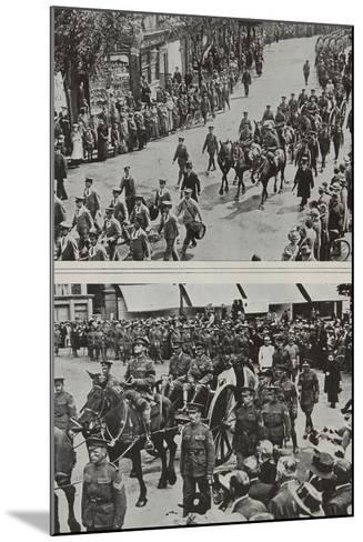 Funeral of Colonel Fitzgerald, Secretary to Lord Kitchener, Eastbourne, 1916--Mounted Photographic Print