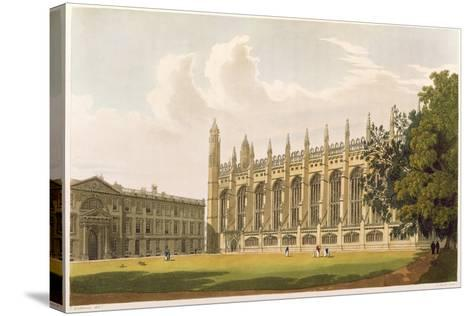 """Cambridge: King's College from """"History of Cambridge"""", Vol.1--Stretched Canvas Print"""