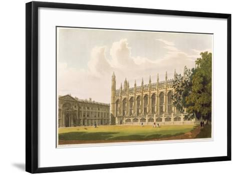 """Cambridge: King's College from """"History of Cambridge"""", Vol.1--Framed Art Print"""