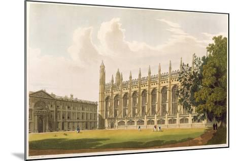 """Cambridge: King's College from """"History of Cambridge"""", Vol.1--Mounted Giclee Print"""