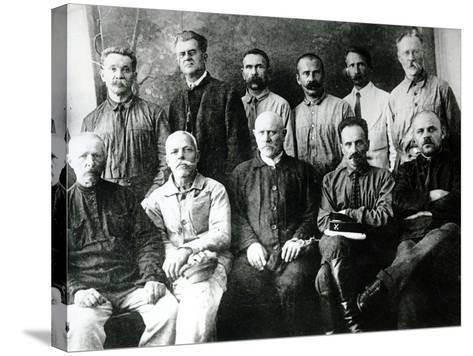 A Group of Revolutionaries and Participants in the Strikes of 1903-05 in St. Petersburg--Stretched Canvas Print