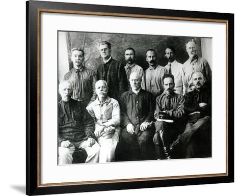 A Group of Revolutionaries and Participants in the Strikes of 1903-05 in St. Petersburg--Framed Art Print