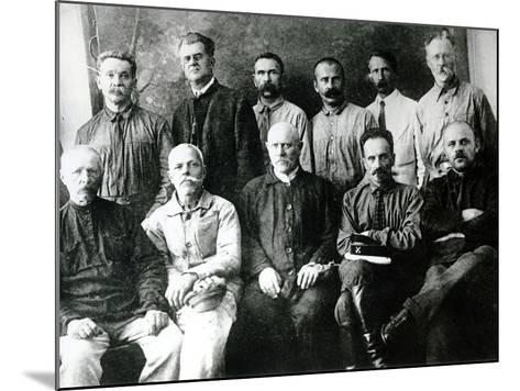 A Group of Revolutionaries and Participants in the Strikes of 1903-05 in St. Petersburg--Mounted Photographic Print