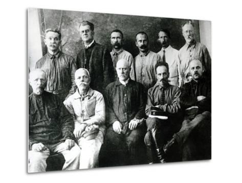A Group of Revolutionaries and Participants in the Strikes of 1903-05 in St. Petersburg--Metal Print