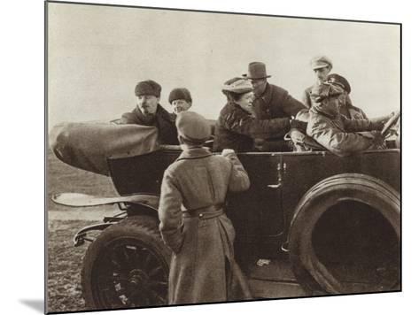 Lenin, N K Krupskaya and M I Ulyanova in a Car in the Khodynka Field, Moscow, 1 May 1918--Mounted Photographic Print