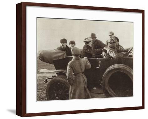 Lenin, N K Krupskaya and M I Ulyanova in a Car in the Khodynka Field, Moscow, 1 May 1918--Framed Art Print