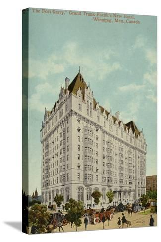 The Fort Garry, Grand Trunk Pacific Railway's New Hotel, Winnipeg, Manitoba, Canada--Stretched Canvas Print