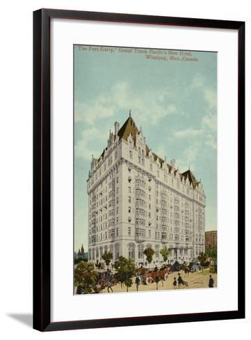 The Fort Garry, Grand Trunk Pacific Railway's New Hotel, Winnipeg, Manitoba, Canada--Framed Art Print