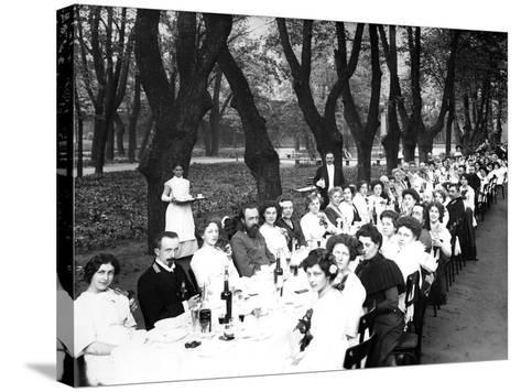 Schoolgirls of the Nicholas Orphanage Institute at an Al Fresco School-Leaving Lunch, 1913--Stretched Canvas Print