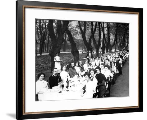 Schoolgirls of the Nicholas Orphanage Institute at an Al Fresco School-Leaving Lunch, 1913--Framed Art Print