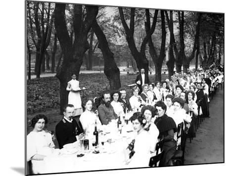 Schoolgirls of the Nicholas Orphanage Institute at an Al Fresco School-Leaving Lunch, 1913--Mounted Photographic Print