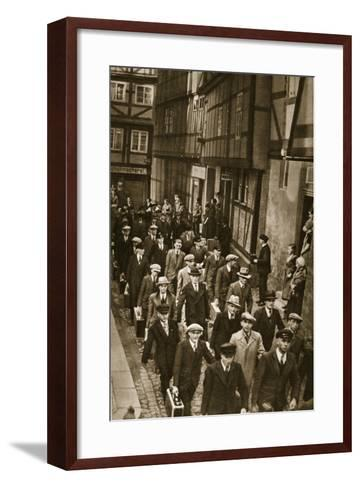 First World War Veterans and New Recruits are Summoned to the Barracks in Quedlinburg, 1939--Framed Art Print