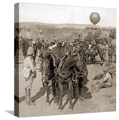 Balloon Corps Transport, with Lord Roberts' Army - Advance on Johannesburg, South Africa, 1901--Stretched Canvas Print