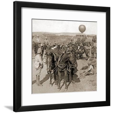 Balloon Corps Transport, with Lord Roberts' Army - Advance on Johannesburg, South Africa, 1901--Framed Art Print