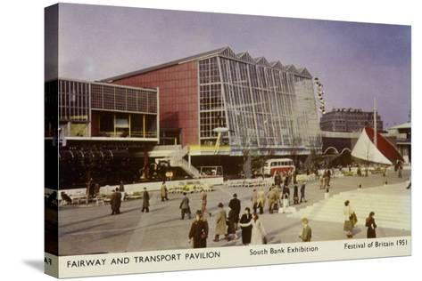 Fairway and Transport Pavilion, Festival of Britain, South Bank Exhibition, London, 1951--Stretched Canvas Print