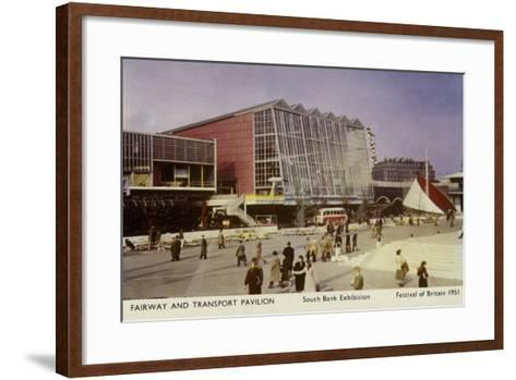 Fairway and Transport Pavilion, Festival of Britain, South Bank Exhibition, London, 1951--Framed Art Print