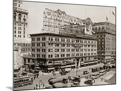 The West Side of 7th Ave., with the Intersections of 43rd and 44th Streets, New York City, 1925--Mounted Photographic Print
