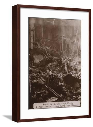 Aftermath of a Raid by German Gotha Bombers, Rue Geoffroy Marie, Paris , World War I, 8 March 1918--Framed Art Print
