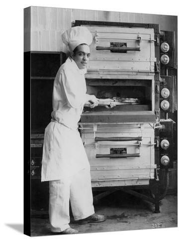 Westinghouse Electric Baking Oven, Cafeteria Kitchen, Showing a Chef at Work, 1927--Stretched Canvas Print