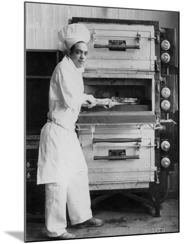 Westinghouse Electric Baking Oven, Cafeteria Kitchen, Showing a Chef at Work, 1927--Mounted Photographic Print