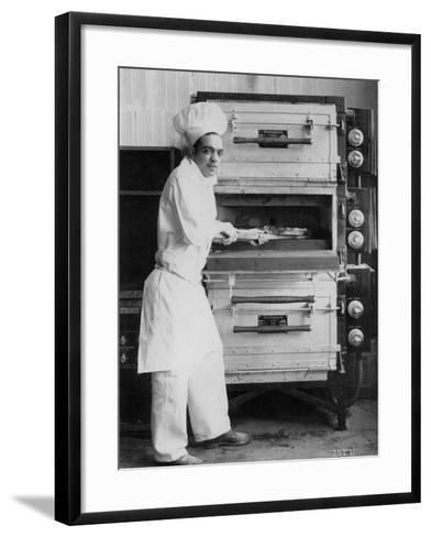 Westinghouse Electric Baking Oven, Cafeteria Kitchen, Showing a Chef at Work, 1927--Framed Art Print
