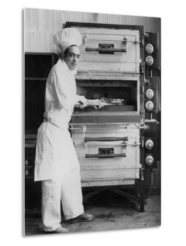 Westinghouse Electric Baking Oven, Cafeteria Kitchen, Showing a Chef at Work, 1927--Metal Print