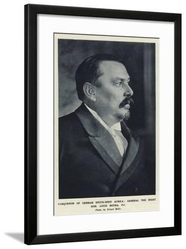 Conqueror of German South-West Africa, General the Right Hon Louis Botha, PC--Framed Art Print