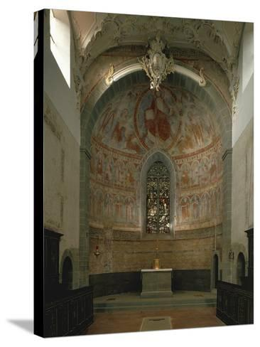 Majestas Christi, Fresco of Apse in St Peter and Paul's Church, Niederzell--Stretched Canvas Print