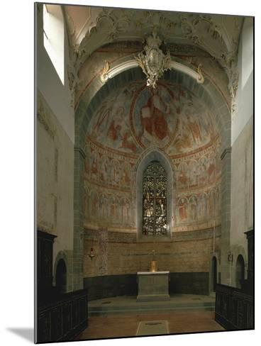 Majestas Christi, Fresco of Apse in St Peter and Paul's Church, Niederzell--Mounted Photographic Print