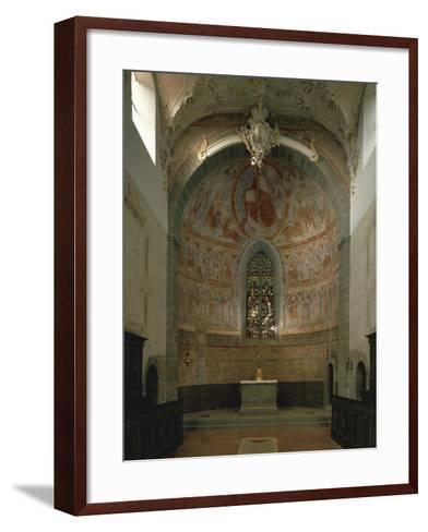 Majestas Christi, Fresco of Apse in St Peter and Paul's Church, Niederzell--Framed Art Print