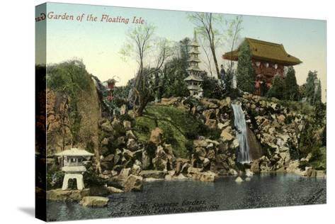 Garden of the Floating Isle in the Japanese Gardens, Japan-British Exhibition, London 1910--Stretched Canvas Print