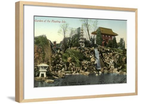 Garden of the Floating Isle in the Japanese Gardens, Japan-British Exhibition, London 1910--Framed Art Print
