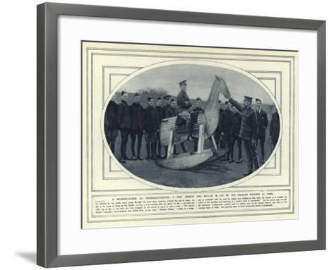 A Rocking-Horse as Training-Charger, a Fine Kicker and Roller in Use by the Cavalry Reserve at York--Framed Art Print