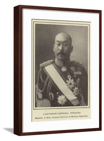 Lieutenant-General Terauchi, Minister of War, Formerly Director of Military Education--Framed Art Print
