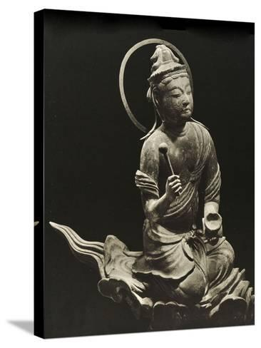 Bosatsu Playing Musical Instrument, from the 11th Century, Late Heian Period, Byodo-In, Kyoto, 1950--Stretched Canvas Print