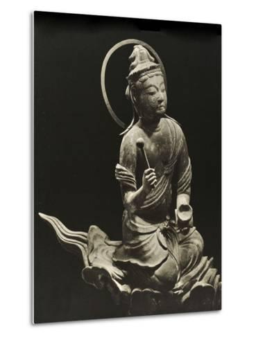 Bosatsu Playing Musical Instrument, from the 11th Century, Late Heian Period, Byodo-In, Kyoto, 1950--Metal Print