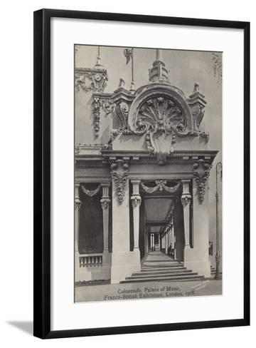 Colonnade, Palace of Music, Franco-British Exhibition, White City, London, 1908--Framed Art Print