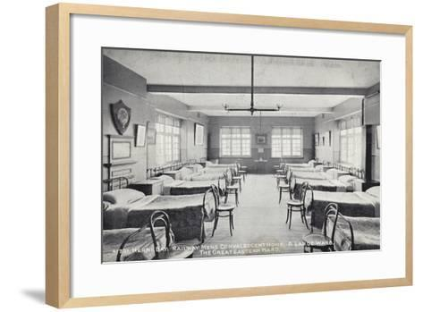 Herne Bay, Railway Mens Convalescent Home, a Large Ward, the Great Eastern Ward--Framed Art Print