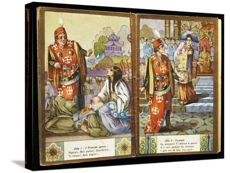 Small Calendar Illustrating Scenes from Turandot, Opera by Giacomo Puccini--Stretched Canvas Print