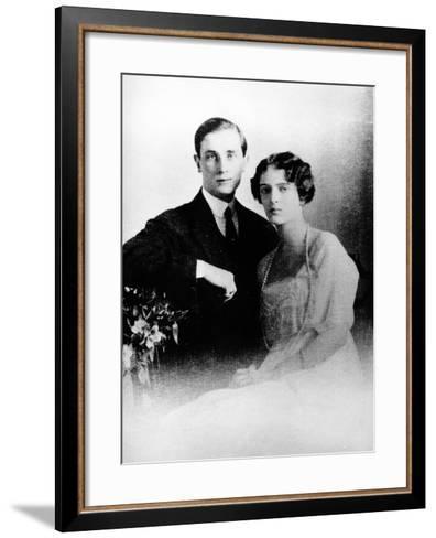 Prince Felix Yusupov and His Wife Princess Irina Alexandrovna of Russia, 1913--Framed Art Print