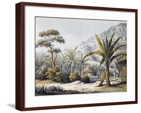 View of Huts in Enzet, Musa, Engraving from Travels of Martin Theodor Von Heuglin--Framed Art Print