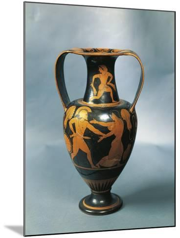 Amphora Depicting Menelaus and Helen and a Nereid on the Neck by Pamphaios, Potter--Mounted Giclee Print