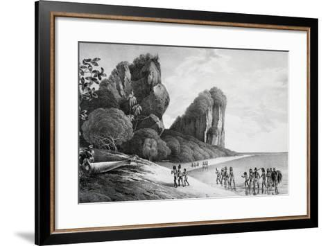 Tikopia Beach View, Engraving from Painting by Louis-Auguste De Sainson, Tikopia--Framed Art Print
