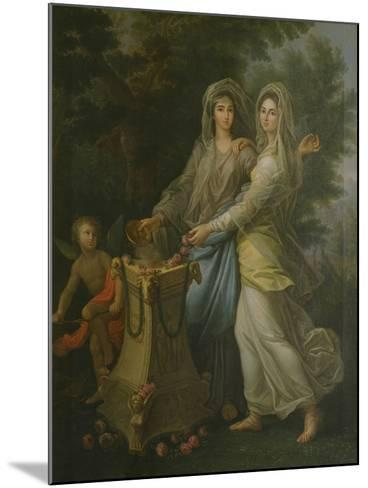 Josephine De Lorraine with Her Sister at the Altar of Friendship by Lorenzo Pecheux--Mounted Giclee Print