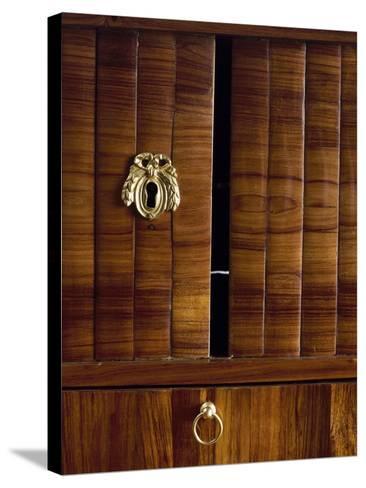 Keyholes and Two Tambour Sliding Doors, Detail from Louis XVI Style Bonheur Du Jour--Stretched Canvas Print