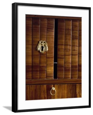 Keyholes and Two Tambour Sliding Doors, Detail from Louis XVI Style Bonheur Du Jour--Framed Art Print