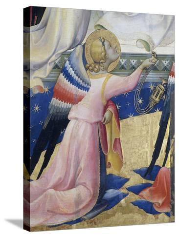 Kneeling Angel, Detail from Central Panel of Coronation of Virgin by Lorenzo Monaco--Stretched Canvas Print