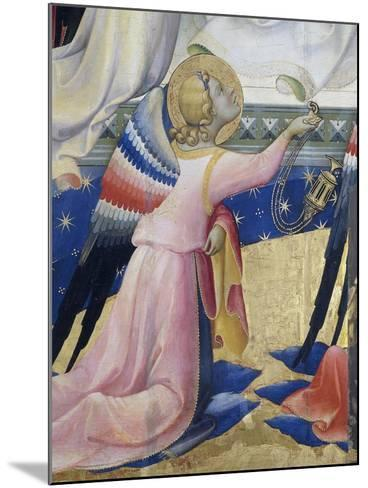 Kneeling Angel, Detail from Central Panel of Coronation of Virgin by Lorenzo Monaco--Mounted Giclee Print