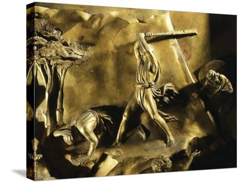 Cain Killing Abel, Detail from Stories of the Old Testament--Stretched Canvas Print