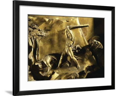 Cain Killing Abel, Detail from Stories of the Old Testament--Framed Art Print